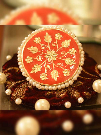 Meenakari-ring(gold-plated)
